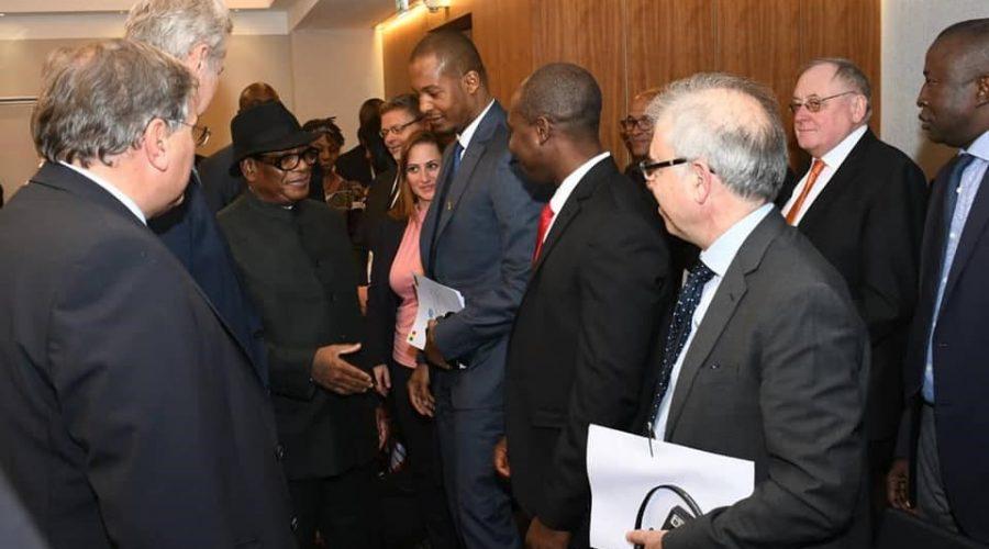 Mit dem Präsident aus Mali