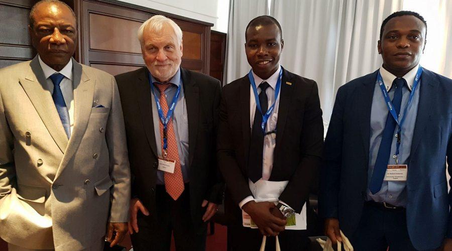 Mit dem Präsident aus Guinea
