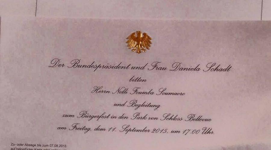 Einladung des Bundespräsident im Schloss Bellevue in Berlin