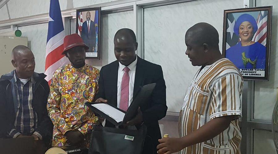 Mit Landwirtschaftsminister aus Liberia